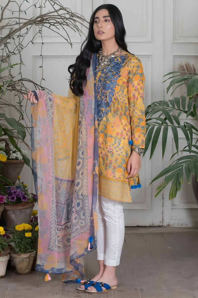 Khaadi Summer Lawn Collection 2018 Vol-2 – Y18203 Yellow