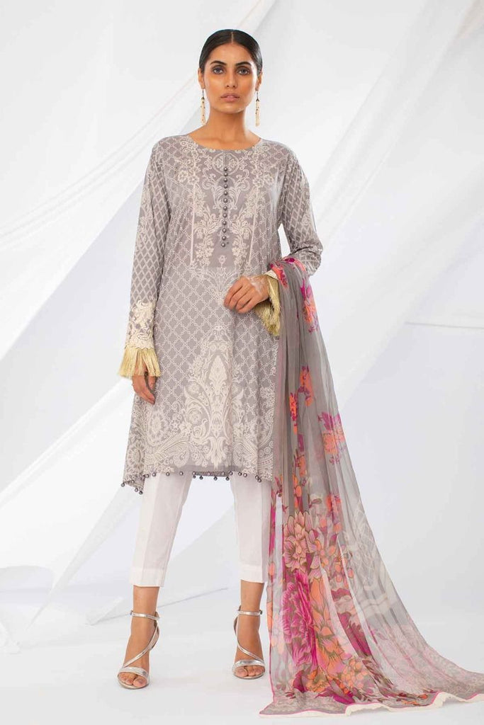 Khaadi Mid Summer Lawn Collection 2018 – Y18303 Grey Pc