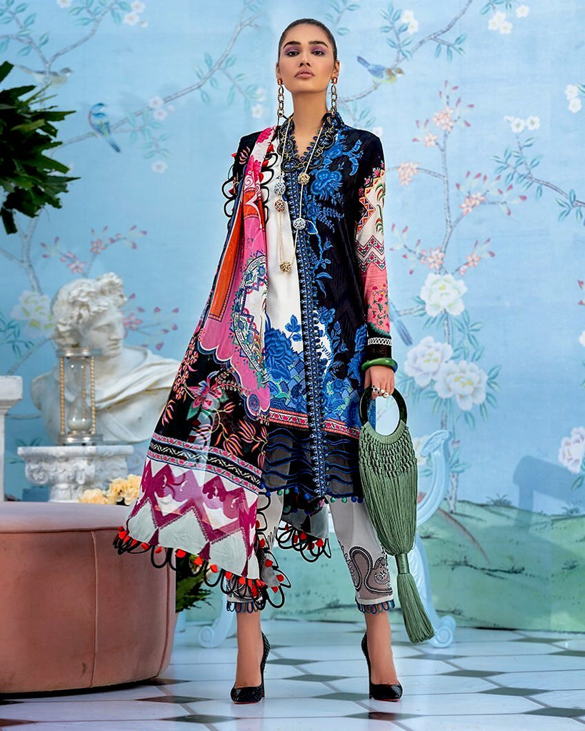 Zaha by Khadijah Shah – Spring/Summer Lawn Collection 2020 – JUNIPER (ZL-15)