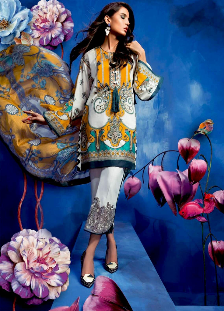 Zaha by Khadijah Shah – 3pc Lawn Collection – Noemie (ZL-17B)