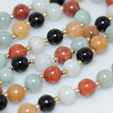 Jade & Onyx Beaded Necklace