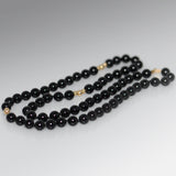 Black Onyx Beaded Necklace