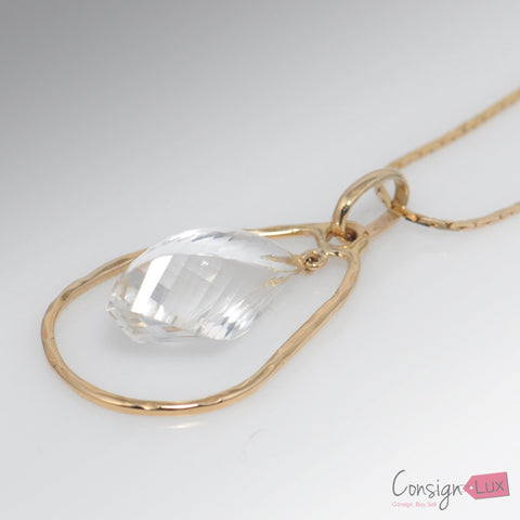Quartz Drop Pendant