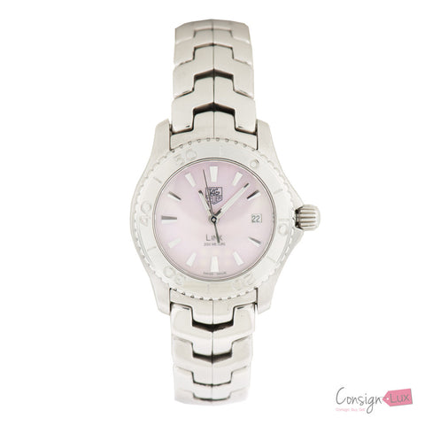 Ladies TAG HEUER Link WJ1315-1 Pink Mother of Pearl Stainless Steel Quartz Watch