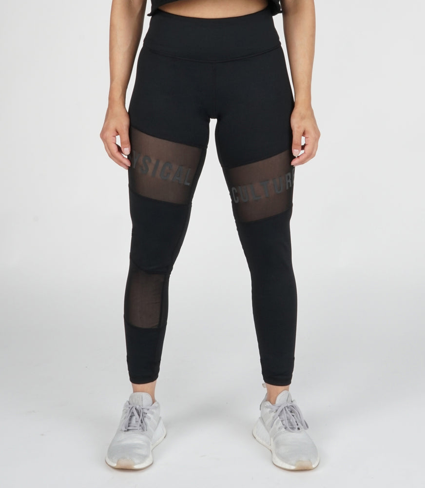 Ethos Reflective Legging | Black