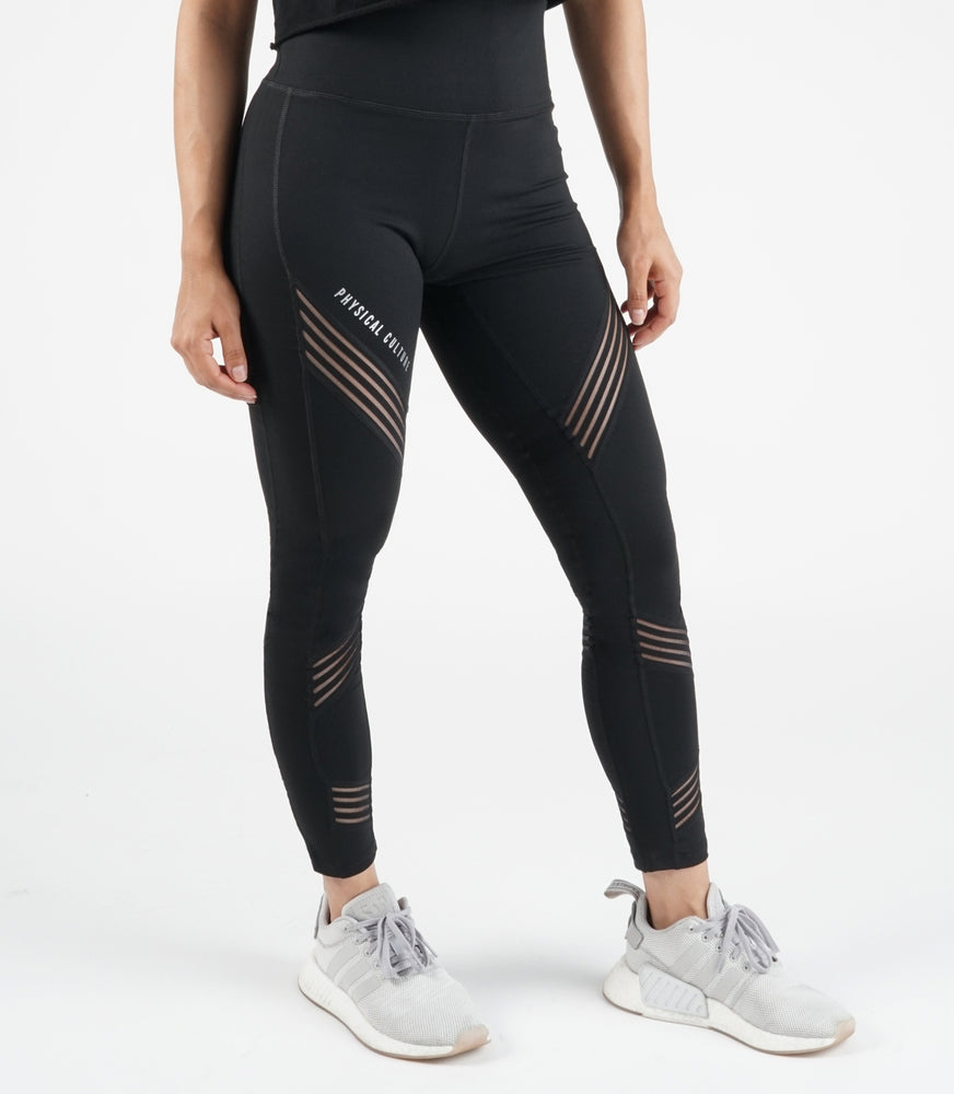 Filament Slash Legging | Black