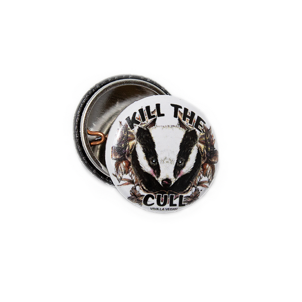 kill the cull badge, sold by ethical fashion brand Viva La Vegan.