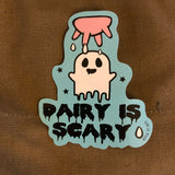 Vegan Sticker: Dairy Is Scary