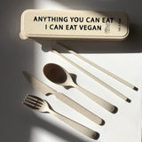 Reusable wheat cutlery set: I Can Eat Vegan