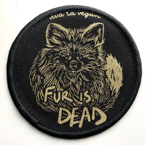 fur is dead patch, sold by ethical fashion brand Viva La Vegan.