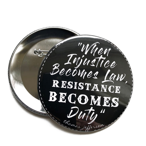 big impact badge, sold by ethical fashion brand Viva La Vegan.