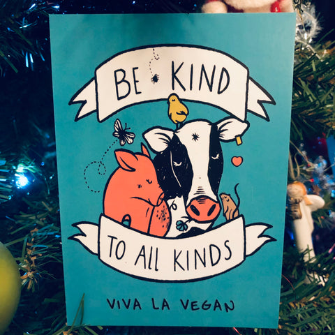 Be kind to all kinds gift card £20 by eco ethical brand viva la vegan