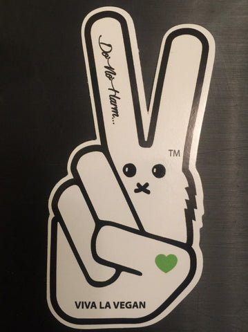Vegan Sticker: VLV signature bunny motif