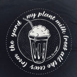 My plant milk tee.- graphic close up
