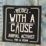 Printed Patch Square - Rebel With A Cause