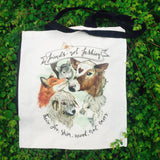 1. Bag: Friends Not Fashion- Natural Organic Canvas 8oz Shopper
