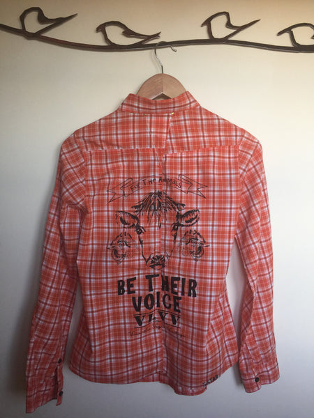 VLVV Women's: Reworked Check Shirt.