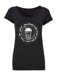 My milkshake . Organic vegan tshirt in black
