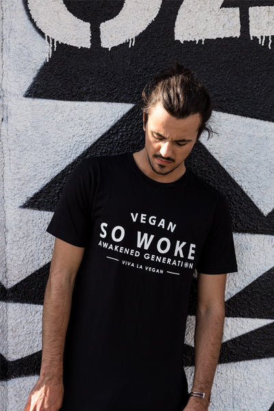 Men's : Longline Tee - So Woke. Awakened Generation