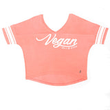 Vegan varsity tshirt, sold by ethical fashion brand Viva La Vegan.