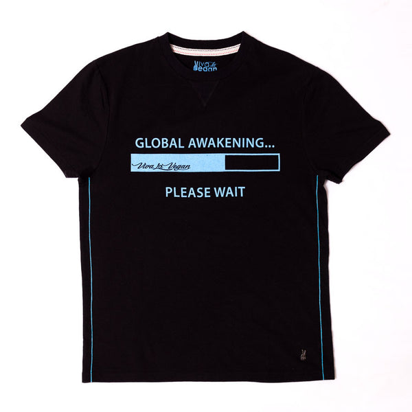Global Awakening Mens Organic Graphic T-shirt Detail