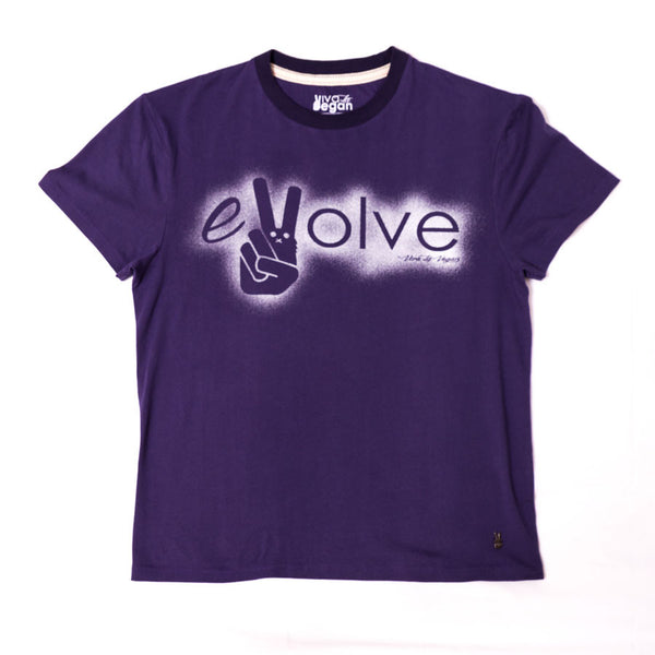 evolve tshirt, sold by ethical fashion brand Viva La Vegan.