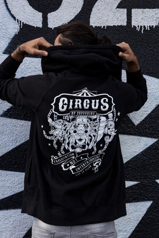 circus of suffering hoodie, sold by ethical fashion brand Viva La Vegan.