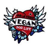 Embroidered Vegan patch, sold by ethical fashion brand Viva La Vegan.