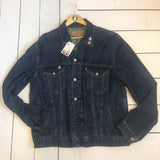 VLVV Men's / Unisex Reworked Denim Jacket.