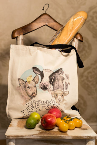 1.Bag: Friends Not Food Natural Organic Canvas 8oz Shopper.