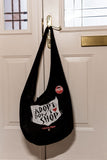 1.Bag: Adopt Don't Shop -  Organic Cotton Thai Monk Moon Bag: 53 x 38cm. £20.00