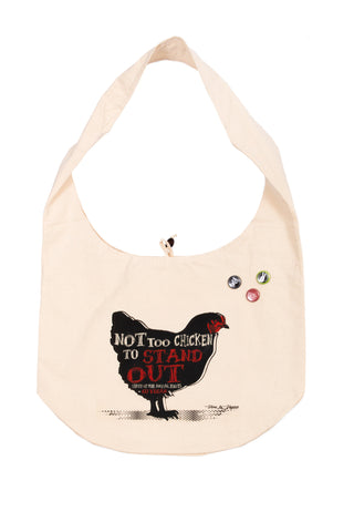 1.Bag: Dare To Stand Out - Organic Cotton Thai Monk Moon Bag, 53 x 38cm.