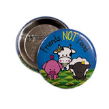 Friends Not Food badge, sold by ethical fashion brand Viva La Vegan.