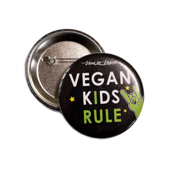 VLV Vegan Kids Rule 58 mm Statement Badge