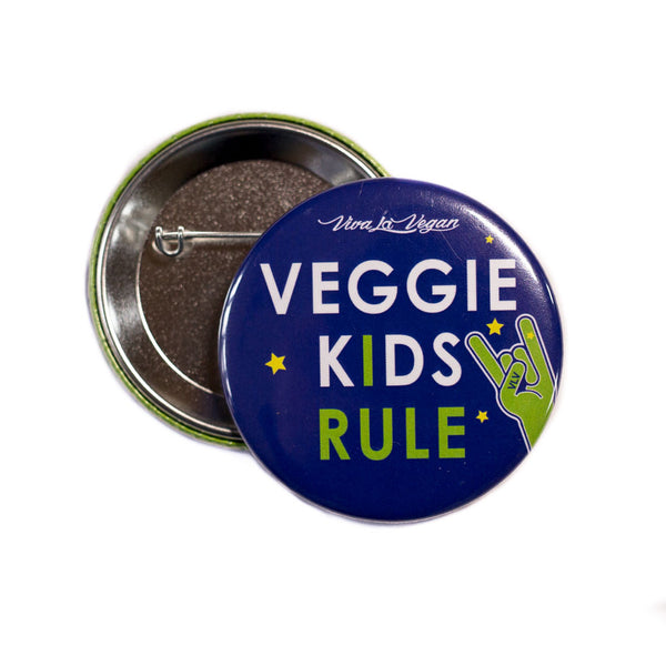 VLV Veggie Kids Rule 58 mm Statement Badge