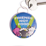 friends  not food bottle opener keyring, sold by ethical fashion brand Viva La Vegan.