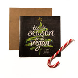 Tis The season Vegan Christmas card, sold by ethical fashion brand Viva La Vegan.