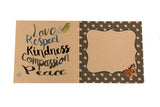 global compassion greetings card, sold by ethical fashion brand Viva La Vegan.