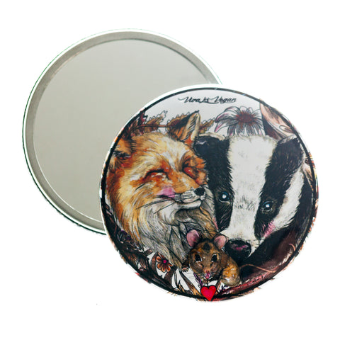 Life should be wild pocket mirror, sold by ethical fashion brand Viva La Vegan.