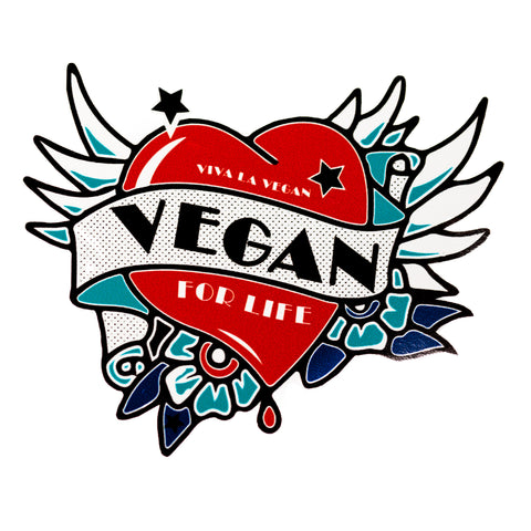 Vegan Sticker:  Winged Vegan tattoo, sold by ethical fashion brand Viva La Vegan.