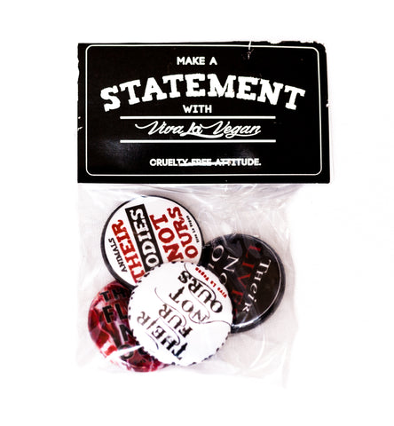 Badge Pack  x 4: Activist Chant