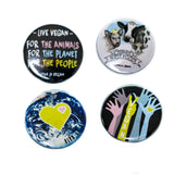 Badge Pack  x 4: Vegan For The...