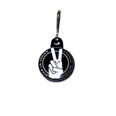 animal activist zip pull, sold by ethical fashion brand Viva La Vegan.