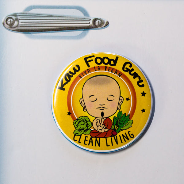 Fridge Magnet: Raw Food Guru- Clean Living