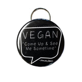vegan come up and see me sometime bottle opener keyring, sold by ethical fashion brand Viva La Vegan.