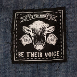 be their voice patch, sold by ethical fashion brand Viva La Vegan.