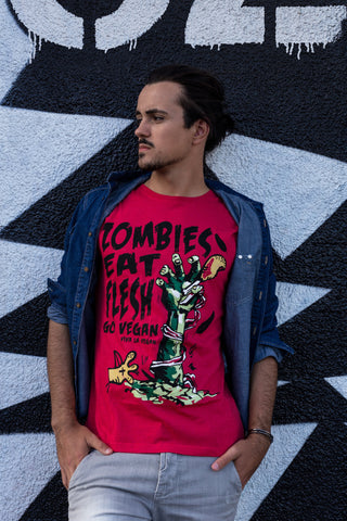 zombies eat flesh tshirt, sold by ethical fashion brand Viva La Vegan.