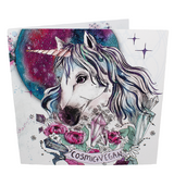Vegan greetings card: Cosmic Vegan, sold by ethical fashion brand Viva La Vegan.