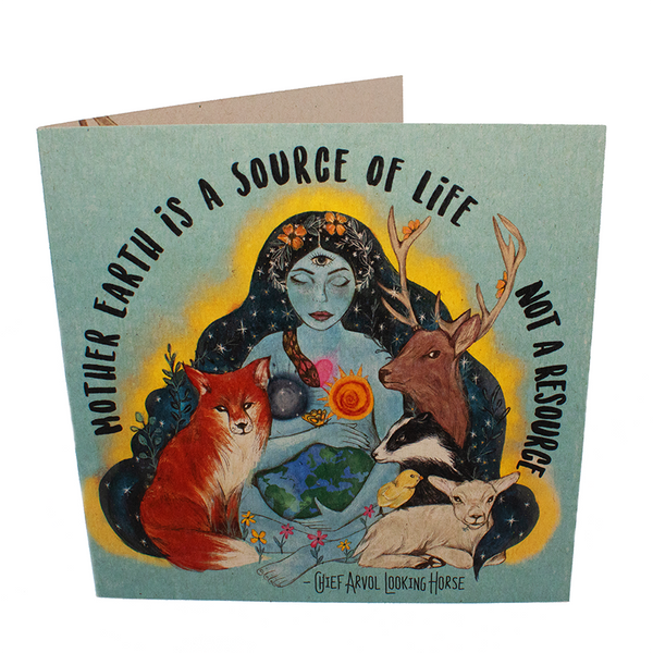 mother earth is a source of life greetings card, sold by ethical fashion brand Viva La Vegan.