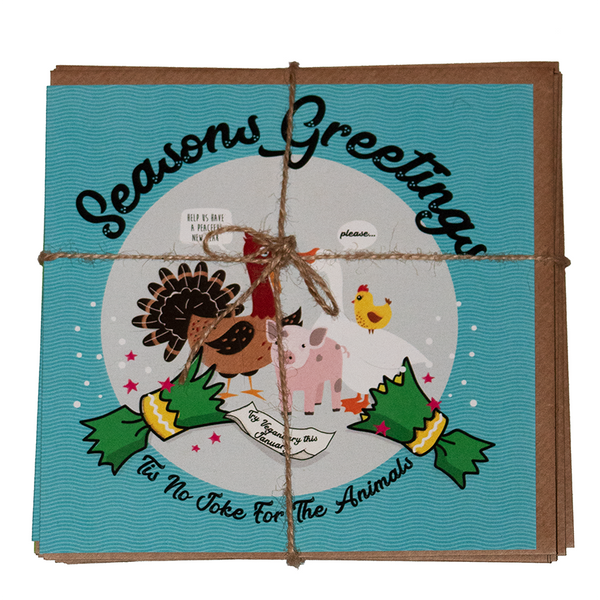 vegan christmas card pack, sold by ethical fashion brand Viva La Vegan.